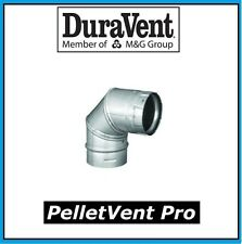 "DURAVENT PELLETVENT PRO Pipe 4"" Diameter 90 Degree Elbow #4PVP-E90 NEW!"