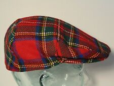7 1/8 58 LochCarron Men's Scotland 100% Wool Plaid Golf Newsboy Gatsby Hat Cap