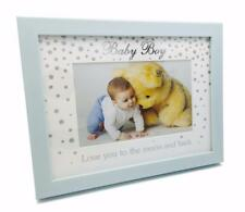 Wooden Glitter Baby Boy Photo Frame 6 x 4 New Boxed 76054