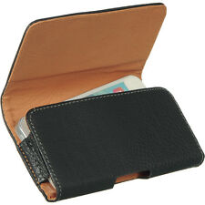 Black Leather Pouch Carrying Case Belt Clip Holster for Apple iPhone 5 5S 5C SE