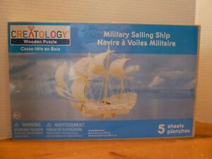 Creatology Military Sailing Ship Wooden Puzzle Sealed