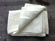 Bertelli 1947 Italy Linens Tuscany Linen/Cotton Blend Throw Cream – New