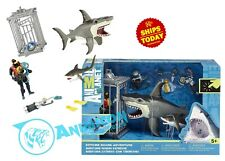 Animal Planet EXTREME SHARK ADVENTURE PLAYSET Cage Great White Tiger Diver 2020