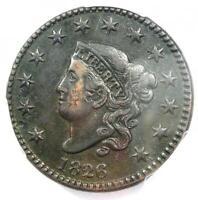 1826 Coronet Matron Large Cent 1C - Certified PCGS AU Details - Rare Variety