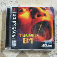 TUNNEL B1 ✨Playstation PS1✨ USA Complete + Nice! ✨ Excellent Game - Hard to Find