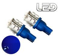 2 Ampoules W5W T10  LED éclairage Bleu Plafonnier Habitacle boite a gants coffre