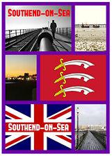 SOUTHEND - ON - SEA, ESSEX - SOUVENIR NOVELTY FRIDGE MAGNET - SIGHTS / TOWNS