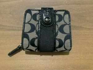 Coach Black and Grey Wallet Used