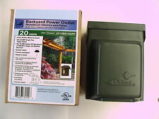 Weatherproof Power Outlet 20 amp GFI & SP Switch In-Use Cover All Metal Green