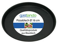 10 Stück Pizzablech Backform flach rund Profiqualität Ø 16 cm Gastlando