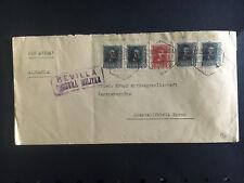 1938 Seville Spain Cover to Essen Germany Krupp Censored