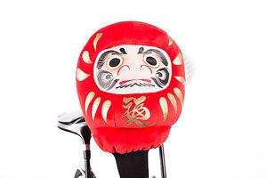 Japanese Daruma Red Doll Golf Headcover