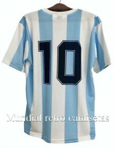 Maradona world cup 1986 Argentina team jersey maglia camiseta  (retro)