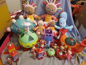In The Night Garden Toy Lot inc pinky ponk, ninky nonk, iggle piggle, upsy daisy