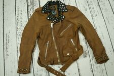 NEW DIESEL L-ULISSES MENS JACKET BIKER GOATSKIN  LEATHER 100% AUTHENTIC SIZE S