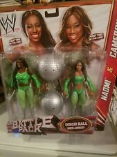 WWE Battle Pack Series 24 Cameron & Naomi 2-Pack Action Figures w/ Disco Ball
