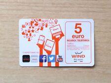 RICARICA TELEFONICA WIND - TI ASPETTIAMO SU WIND.IT - LIKE FOLLOW SHARE - 5 EURO