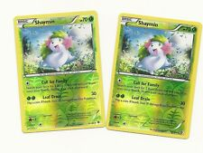 2 RARE SHAYMIN #10/149 -BOUNDARIES CROSSED Pokemon Card- REV HOLO MINT