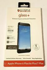 ZAGG InvisibleShield Glass+ Screen Protector for iPhone 8 Plus/7 Plus/ 6 Plus