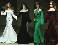 1/6 Female Strapless Long Sleves Evening Dress Clothes Fit PH TBL Figure Body