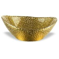 Crystal Oval Bowl with Gold Leaf Pattern | Crystal Bowls Collection