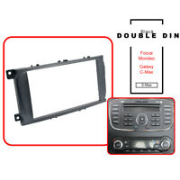 Black Double DIN Car CD Radio Plate Stereo Facia Fascia Panel Ford Mondeo Focus