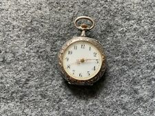 Small Mechanical Wind Up Vintage Pocket Watch - Runs Fast