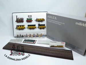 BJ0 - ESCALA 1 MÄRKLIN 5750 + 0268 Adler Zug der Ludwigsbahn + Präsentationsglei