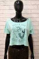 Maglia MAUI Donna Taglia Size UNICA Maglietta Blusa Top Shirt Woman Cotone Blu
