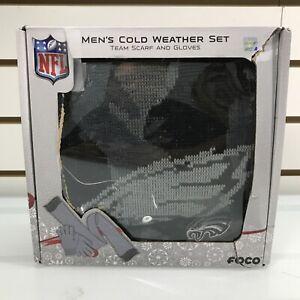NFL Philadelphia Eagles Black Camo Glove & Scarf 2-Piece Men's Cold Weather Set