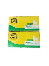 "2 Boxes Tidy Cats Large Litter Box Liners 7 Liners Fits 18"" x 20"" x 7"" Box  New"