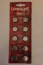 10 Pack Alkaline LR44 AG13 357 Button Cell Batteries