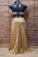 Egyptian Belly Dance Costume bra & Skirt Set Professional Dancing Gold Beads