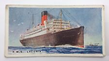 Merchant Ships World RMS Laconia Vessel Imperial Tobacco Card 16 F135