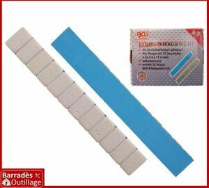 Masse/Plomb équilibrage autocollants 3 kg : 50 bandes de 12 x 5 grammes