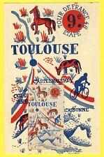cpa Philatélie Sport Cyclisme TOUR de FRANCE 1948 9e étape TOULOUSE MONTPELLIER