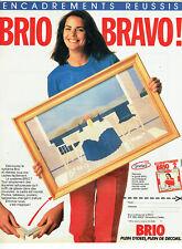 Publicité Advertising 107  1984   Brio  cadres tableaux