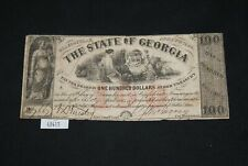 WPC ~ $100 Confederate Currency The State of Georgia April 6 1864 Milledgeville