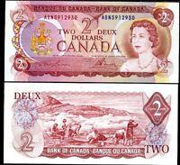 CANADA 2 DOLLARS 1974 P 86 a 86 UNC
