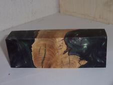 Olivenwurzel , Hybrid Holz , Messergriff, Griffblock, Edelholz 258