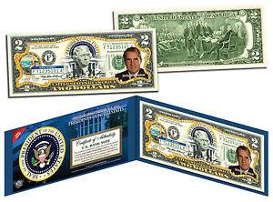 RICHARD NIXON * President 1969-1974 * Colorized $2 Bill US Genuine Legal Tender