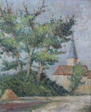 G. Richard, peintre de Boulogne sur Mer, Eglise, huile sur toile IMPRESSIONNISME