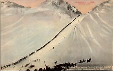 Over Chikoot Pass During The Gold Rush In Alaska Postcard (c. 1910)