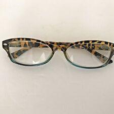 Lulu Guinness Eye Glasses 53 16 136 Tortoise Shell Turquoise
