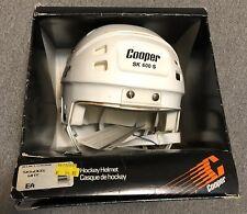New Old Stock White Retro Vintage Cooper Sk600 S  Bubble Hockey Goalie Helmet