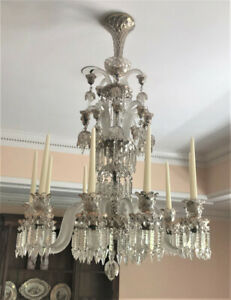 Spectacular Baccarat Crystal Chandelier, 10 Arm, 19th Century, PA5763FN