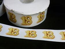 Cinta De Cumpleaños Pastel Decoración Pastel Artesanía - 50mm-edad 18 dieciocho - 1m