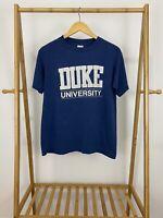 VTG 80s Duke University Thin 50/50 Single Stitched Short Sleeve T-Shirt Size L