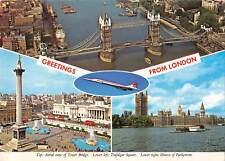 uk1748 london ship plane real photo uk