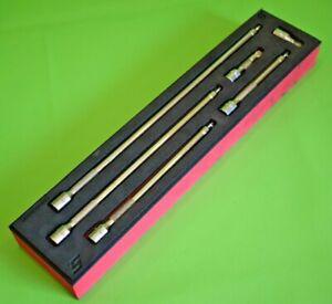 "Snap On Tools MINT 1/4"" Drive 6pc Wobble Socket Extension Set in Foam Tray (486)"